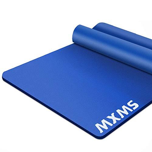 YUREN Colchoneta de Ejercicios 185×90cm 15mm Esterilla de Yoga Antideslizante NBR para Pilates,Abdominales, Hogar, Gimnasio, Estiramientos,Hombres Fitness Deportes