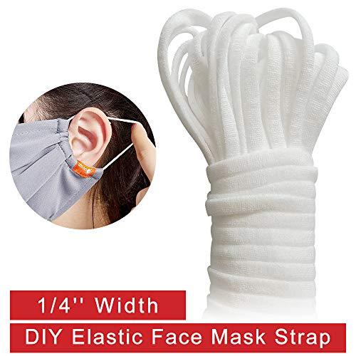Elastic Bands for Sewing -1/4' Width 120Yards Elastic Cord Braided Stretch Strap High Elasticity Knit for Sewing Crafts DIY Bedspread Cuff