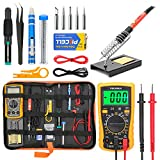 Soldering Iron Kit Electronics, Yome 19-in-1 60w Adjustable Temperature Soldering Iron with ON/OFF...