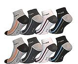 12 Paar Herren Sport Freizeit Sneaker Socken Füßlinge Baumwolle 43-46