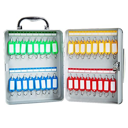 Armarios para llaves Caja De Gestión De Clasificación Portátil Caja De Llaves De 32 bits Caja De Almacenamiento De Llaves Montada En La Pared (Color : Silver, Size : 20 * 8 * 24cm)