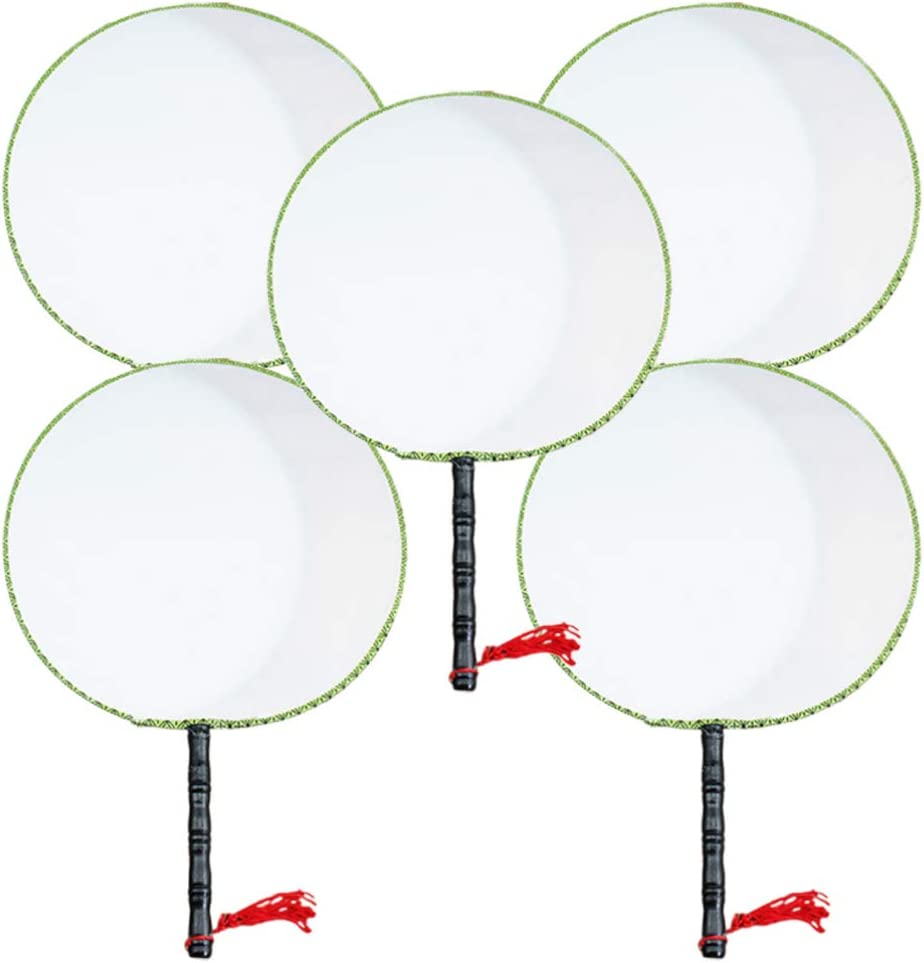 KESYOO Paper Fans Sales results No. 1 Blank Fan cheap Painting DIY Art Writing Round