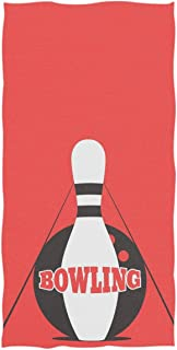 REFFW Stylish Bowling Pins Decorative Soft Large Lighthouse Bath Towels Hand Multipurpose Guest for Home Bathroom Hotel Gym Spa Highly Absorbent