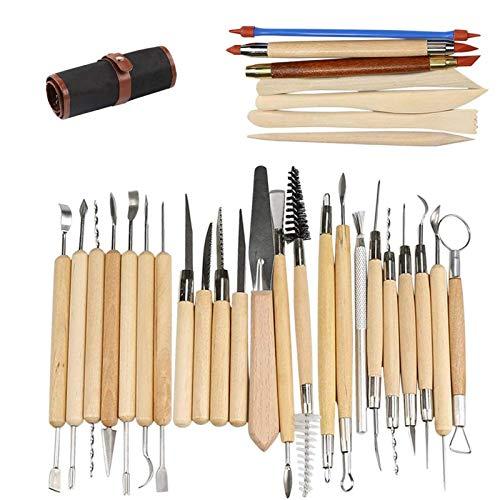 Herramientas de Arcilla, Ballery 30pc Polymer Clay Herramientas de Cerámica, Cerámica Herramientas para Modelado de Arcilla