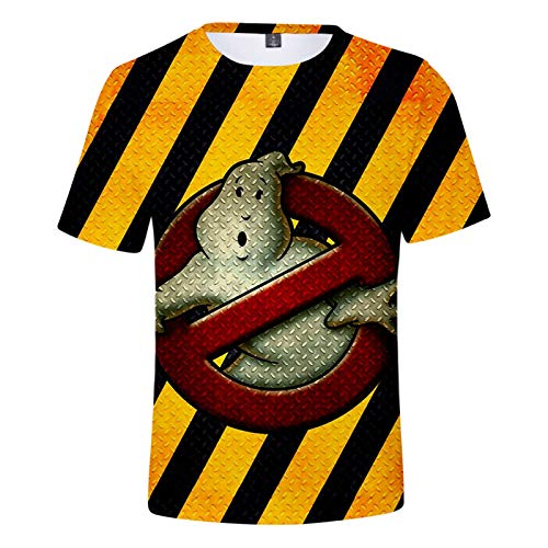 YOILYDI-Ghostbusters-Unisex 3Dt Shirt, Interesting Pattern, Breathable Polyester Material,Slim Polo Shirt,Boy Street Clothes-XL