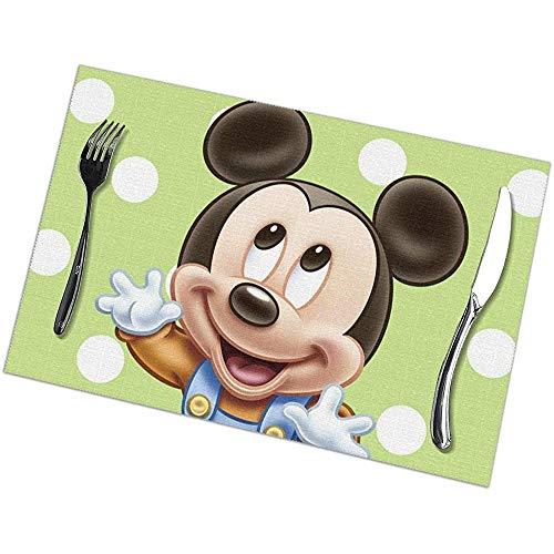 Napperons Bébé Miakey Mouse And Friends Set de table Napperons lavables Set de 6 pour table à manger