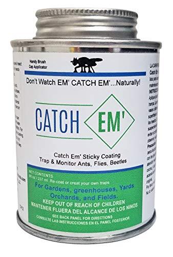 Catch EM' Sticky Coating 8oz Brush on Insect Trap Coating(Brush Cap)