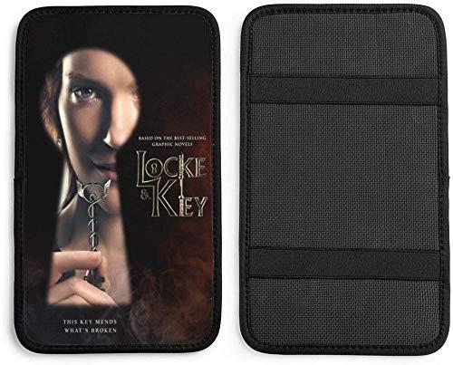 SHOUTAOB Henchuang Locke & Key Car Handrail Box Cushion Soft Cuero Auto Center Console Pad Cover para la mayoría de los automóviles RZTZDM