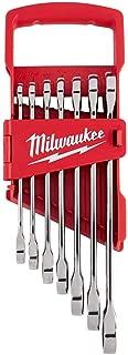 Milwaukee 48-22-9406 7pc Ratcheting Combination Wrench Set - Sae