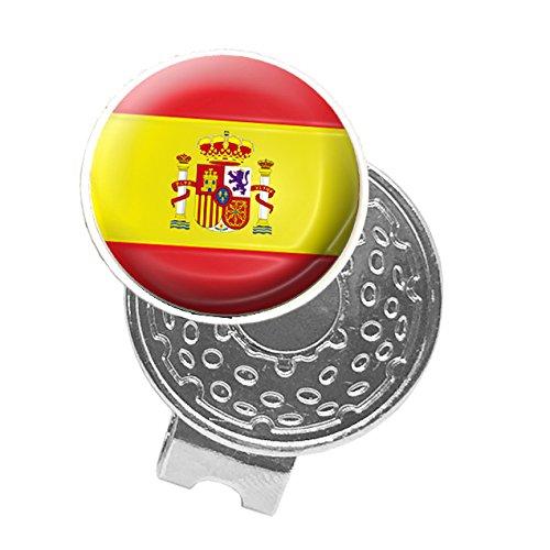 Asbri Golf España Cap Clip, Unisex, Spain, Plata, n/a
