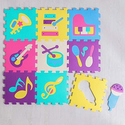 Avior Kids Kinder Kinderteppich Puzzlematte Spiel-Teppich Spielmatte in verschieden Modellen (Modell 1-9-TLG.)