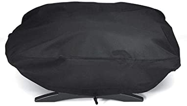 YLYWCG for Weber 7110 Q1000 Series Oven Hood, BBQ Grill Cover, Rip-Proof, UV & Water-Resistant BBQ Grill Cover (Color : Black, Size : 67.14432cm)
