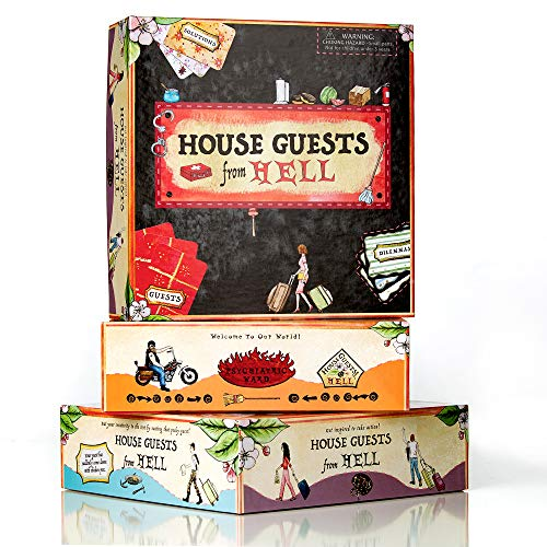 House Guests from Hell Board Game, Fun for Family Parties, Single's Nights, Birthday Gatherings and More (2-6 Players) by Golden Elixir Enterprises