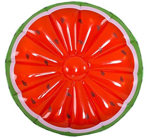 GLOBO, Jumbo Watermelon Slice Island diametro 148 cm Brazaletes y flotadores Natación y Waterpolo Unisex Infantil, Multicolor (Multicolor), Talla Única