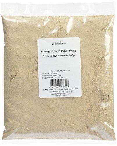 JustIngredients Plantagoschalen-Pulver, Psyllium Husk Powder, 1er Pack (1 x 500 g)