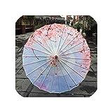シルクの女性の傘日本の桜シルクの古代舞踊の傘装飾的な傘中国風の油紙傘、チョコレート