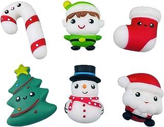 YEKKU Juguetes blandos de Navidad, 6 unidades de gran crecimiento lento y suave, juguete para apretar el estrés, regalo de...