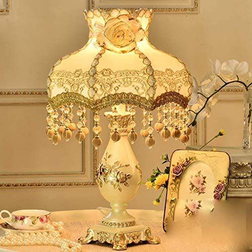Fotingstarcase Lámparas de Mesa, Personalidad Simple Continental lámpara de cabecera, Dormitorio de la lámpara, Pastoral Creativa lámpara Decorativa, luz de la Noche de Lectura
