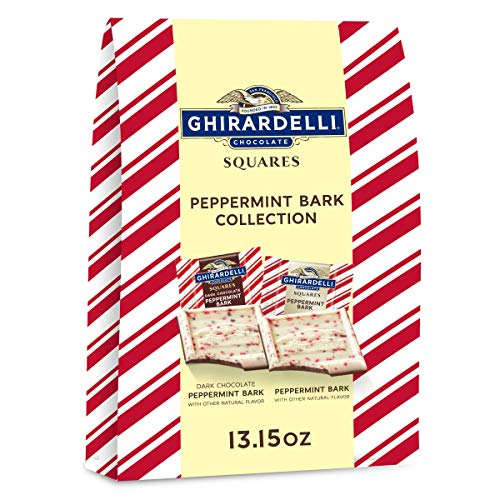 Ghirardelli Peppermint Bark XL Bag, Milk and Dark Chocolate, Holiday Candy Christmas Gift, 259376, 13.15 Ounce (Pack of 1)