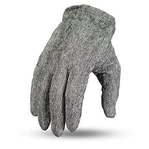 First Mfg Co First Manufacturing Unisex-Adult Gator Skin Glove (Grey, Large)
