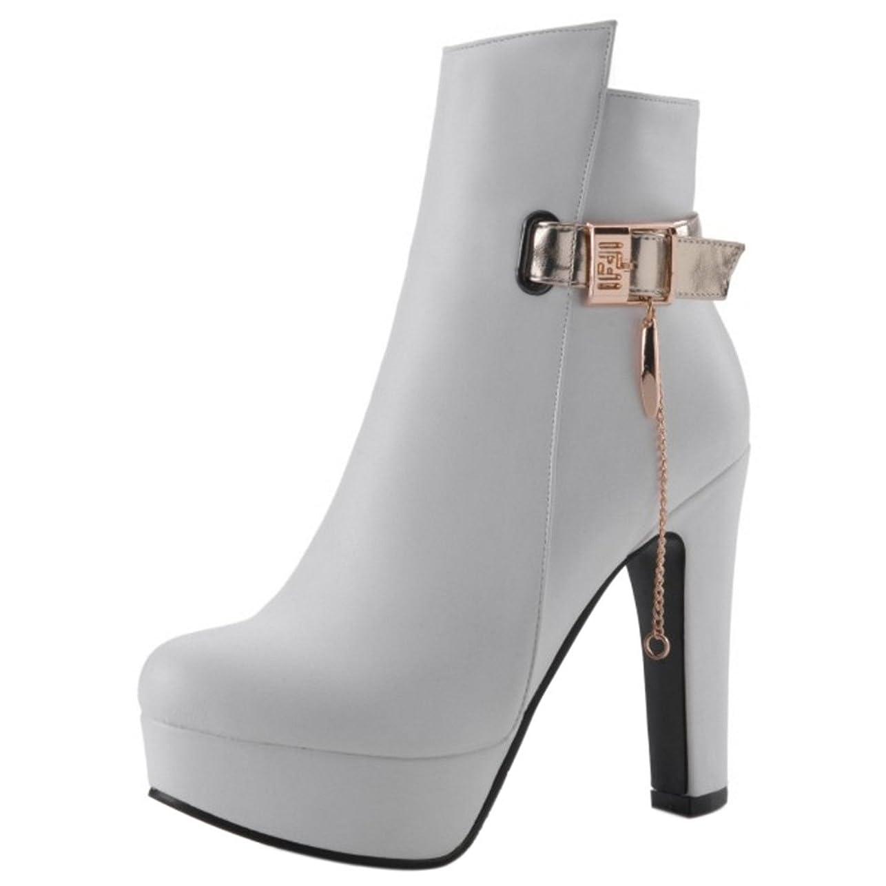 批判的に寄付アクティブ[COOLCEPT] レディース ファッション ショート ブーツ プラットフォーム ジッパー シューズ