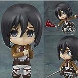 LXYY Attack On Titan Mikasa · Ackerman Figura PVC Modelo De Acción Muñeca Anime Q Versión Figuras Colección Juguetes Regalo para Niños 10Cm