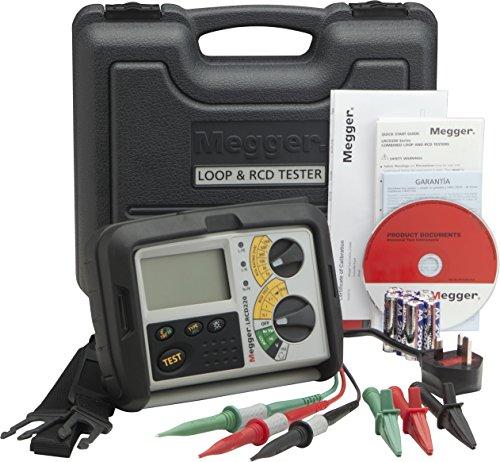 Megger LRCD220-DE-SC Schleifen/RCD-Messgerät Nichtauslösende Schleifenmessung in RCD Stromkreisen, Hochstrom Schleifenprüfung 100V-480V