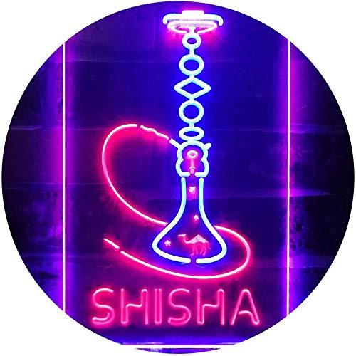 ADV PRO Hookah Shisha Shop Home Room Man Cave Décor Dual Color LED Barlicht Neonlicht Lichtwerbung Neon Sign Blau & Rot 210 x 300mm st6s23-i3208-br