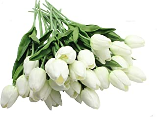 10 pieces mini tulip Artificial flower (white)