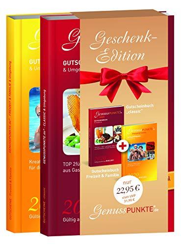 """Gutscheinbuch GenussPUNKTE Geschenkedition: Pforzheim Enzkreis """"classic"""" + Freizeit & Familie 2020 - gültig ab sofort bis 28.02.2021 - TOP 2für1-, Wert- und Rabatt-Gutscheine aus Gastronomie, Freizeit"""