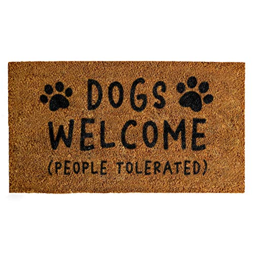 Dogs Welcome People Tolerated Doormat 30x17 Inches, Dogs Welcome Door Mat, Dogs Welcome Entrance Mat...