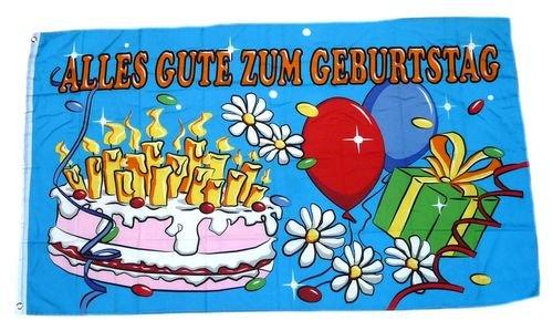 Flagge / Fahne Alles Gute zum Geburtstag 60 x 90 cm