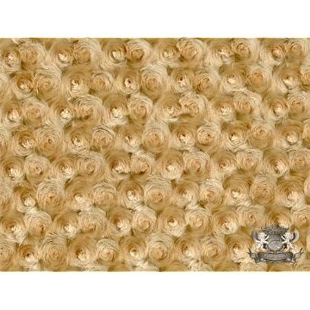 Minky Rosebud AVOCADO Fabric By the Yard