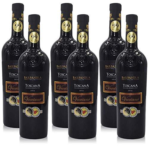 6 Flaschen Barbanera Vecciano Toscana prämierter Rotwein Italien (6x 0,75 l)