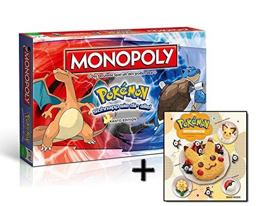 Monopoly Pokémon - Kanto Edition (Deutsch) + Kochbuch Rezepte Backen