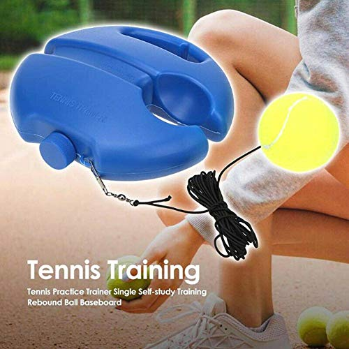 Dr. Li Tennis Ball Trainer, Tennis Trainer Rebounder Ball, Intensive Tennis Trainer Práctica de Tenis Herramientas Individuales de Entrenamiento de autoaprendizaje