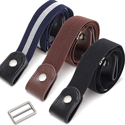 ZANLION 3 Stück schnallenfreie unsichtbare elastische Gürtel für die Taille, schnallenlose No Bulge No Hassle unsichtbare Gürtel (Set A)