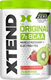 XTEND Natural Zero BCAA Powder Strawberry Kiwi | Free of Artificial Sweeteners, Flavors, and Chemical Dyes | Post Workout Drink with Amino Acids | 7g BCAAs for Men & Women | 25 Servings