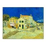 Van Gogh 《Casa de Vincent en Arles (La casa amarilla)》 Arte de la lona Pintura al óleo Imagen estéti...