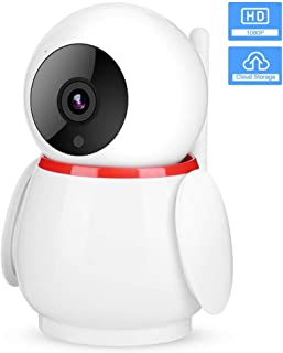 Wireless IP Camera, 1080P FHD WiFi Penguin-Shaped Home Security Camera with Cloud Storage/IR Cut/Enhanced Night Vision/Motion Detection/Two-Way Audio for Home Security(US Plug)