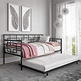 DHP Gail Twin Metal Daybed with Trundle, Black