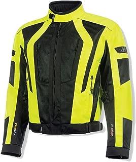 Olympia Moto Sports MJ410 Men's Airglide 5 Mesh Tech Jacket (Neon Yellow/Black, Medium)