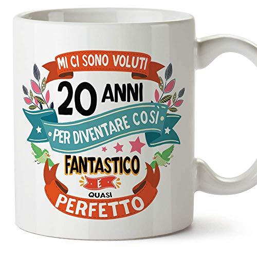 MUGFFINS Tazza Compleanno 20 Anni - Idee Regali Originali et Divertenti per Uomo e Donna - per lui/per lei. Ceramica 350 mL