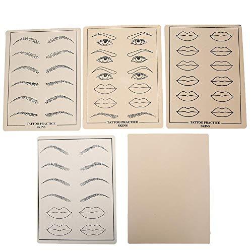 5pcs Muti-Functional Tattoo Übungshaut Gefälschte Microblading-Übungshaut für Permanent Make-up Microblading Augenbrauen und Anfänger
