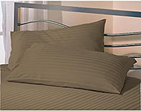 """AVI Set 2 Microfiber Pillow with 2 Pillow Cover Standard Size, Brown (17 * 27"""")"""