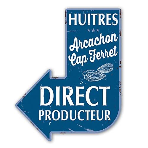 Vertikale Décoration Murale Flèche Déco Huîtres d'Arcachon Cap Ferret Direct Producteur (Marine)