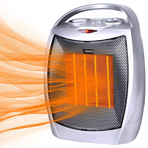 Brightown Portable Electric Space Heater, 1500W/750W Ceramic Heater with Thermostat & Multi-Protection System, Heat Up 200 sq. Ft in Minutes, Quiet for Office Room Floor Desk Indoor Use, ETL Listed Heater Portable Space