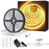 Ustellar 12M Ruban LED Blanc Chaud avec Détecteur de movement, 24V 3000K 3600lm 720LEDs 2835 Bande LED Autocollant Eclairage...