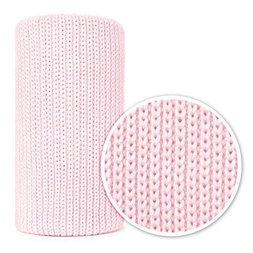 Mikos * Manta de bebé | Manta de punto | Ideal como manta de primeros pasos | Manta para cochecito de bebé 100 x 120 cm (1004) (rosa claro).