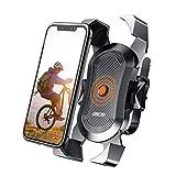 Soporte para teléfono de bicicleta, JOYROOM Bike Phone Mount,Soporte para teléfono para manillar de bicicleta de carretera, pantalla 100%, rotación de 360 grados, para teléfono de 4 a 6 pulgadas